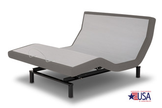 Premier P-132 Foundation style Adjustable base.Furniture-grade upholstery in Black or Dolphin (color in picture no longer available).