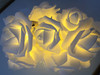 White Fairy Rose LED Garland