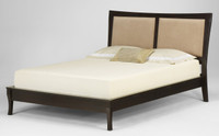 Mattress on Platform Bed without a foundation.