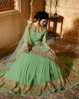 Elegant Dress in light green color