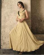 Creme Color Dress (D1028)