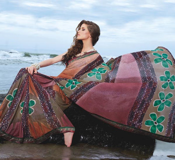 Fancy Border Saree (S11117)
