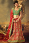 Red Raw Silk Bridal Lehenga Choli (L0050)