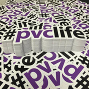 Sticker Pack #PVCLIFE Purple | x3