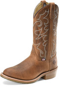"Men's Double H DYLAN 12"" Domestic Work Western Steel Toe Oak I.C.E.™ Outsole #DH1592"