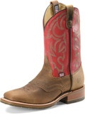 "Men's Double H ROGER 11"" Domestic Wide Square Toe Roper Oak I.C.E.™ Outsole #DH3556"
