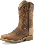 "Men's Double H DWIGHT 11"" Domestic Wide Square Steel Toe Roper Oak I.C.E.™ Outsole #DH3567"