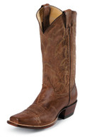 "MEN'S JUSTIN BEAU WESTERN 13"" TAN DISTRESSED VINTAGE GOAT #2680"