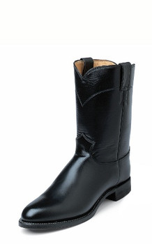 """MEN'S JUSTIN GIDEON ROPER 10""""BLACK MELO-VEAL Made in the USA #3170"""