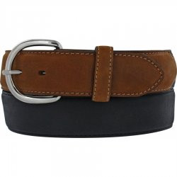 "CLASSIC WESTERN  BLACK / BROWN LEATHER 1 1/2"" STRAP #53700"