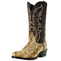 "Men's Laredo 12"" Exotic Prints Monty GOLDEN BROWN SNAKE PRINT #68068"