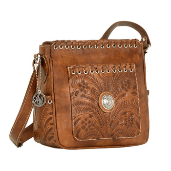 American west Harvest Moon Collection All Access zip-top crossbody bag #6315774