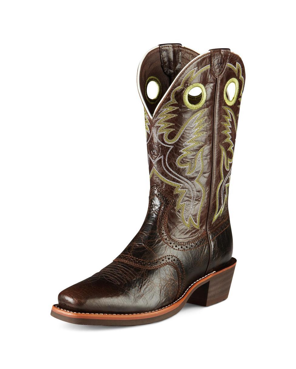 d41e3b150dc Men's Ariat Boots HERITAGE ROUGHSTOCK Thunder Brown #10007850 - WJ ...