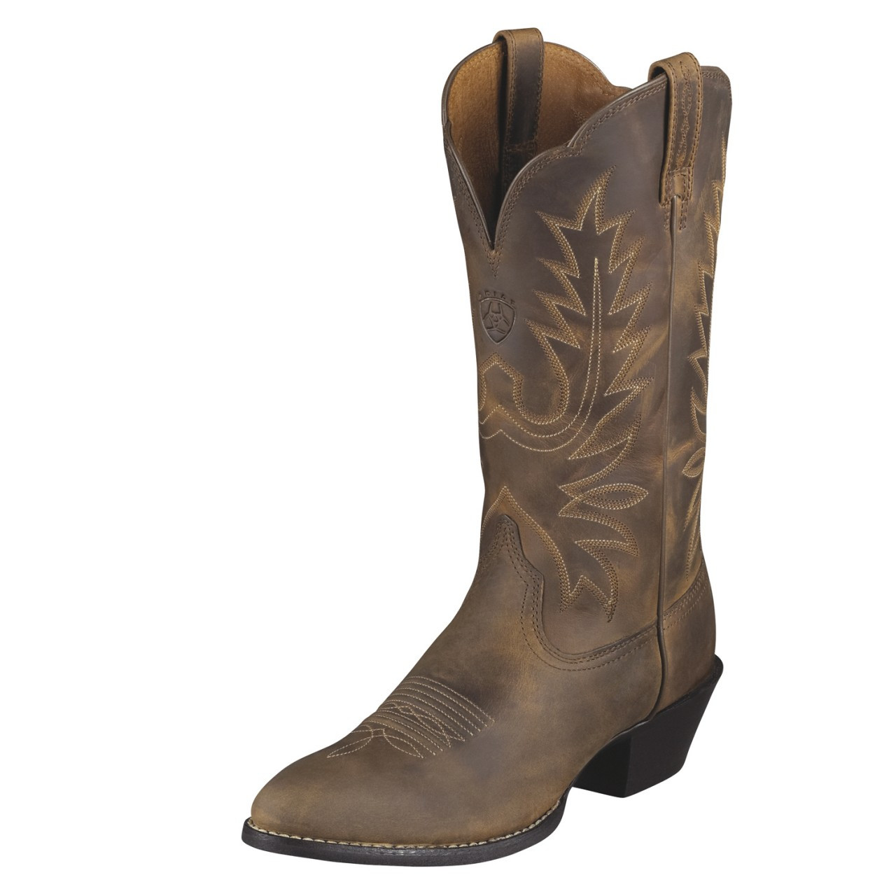17c15552d19 Women's Ariat Boots HERITAGE WESTERN R-TOE DISTRESSED BROWN ...