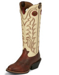"Men's Tony Lama QUANAH CREME 3R™ COLLECTION 16"" SIENNA MAVERRICK AND DEER COW TOP #RR1013"