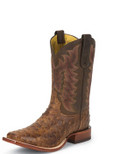 Men's Tony Lama FANNIN SAN SABA COLLECTION CHOCOLATE VINTAGE OSTRICH #E9452