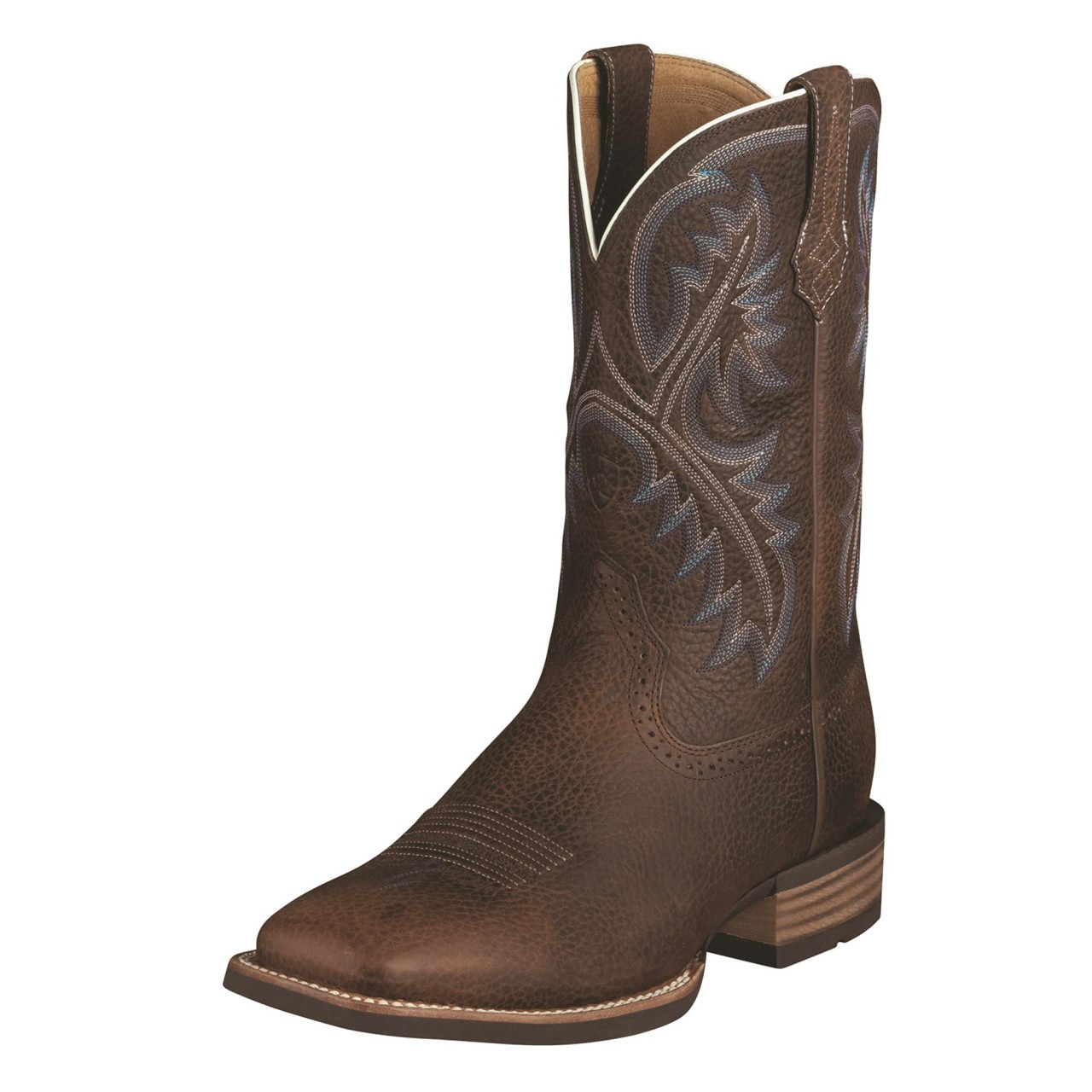 5f334659981 Men's Ariat Boots QUICKDRAW BROWN OILED ROWDY #10006714 - WJ Colt Boots