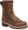 "Men's Carolina Spruce 8"" Copper Crazy Horse Leather Waterproof Lace Steel Safety Toe Logger  #CA9824"