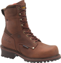 "Men's Carolina Rex 9"" Poseidon Oakwood Leather Broad Steel Safety Toe 400 Grams of Insulated Waterproof Logger #CA8508"