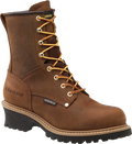 "Men's Carolina Elm 8"" Copper Crazy Horse Leather Steel Toe Waterproof Logger #CA9821"