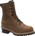 "Men's Carolina Elm 8"" Copper Crazy Horse Leather Steel Toe Waterproof 600 Grams of Insulated Logger #CA5821"