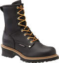 "Men's Carolina Elm 8"" Black Steel Toe Waterproof Logger #CA9823"