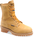 "Men's Carolina Journeyman 8"" Wheat Nubuck Waterproof 600 Grams of Insulated Logger #CA4826"