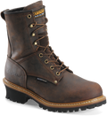 "Men's Carolina Elm 8"" Copper Crazy Horse Leather Waterproof Logger #CA8821"