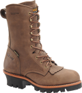 "Men's Carolina Pine 10"" Cork Harness Leather 400 Grams of Insulated GORE-TEX Steel Toe Logger #CA7519"