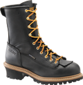 "Men's Carolina Spruce 8"" Black Waterproof Lace to Toe Steel Toe Logger #CA9825"