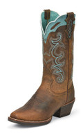 Women's Justin SEVANA SILVER COLLECTION RUGGED TAN BUFFALO #SVL7311