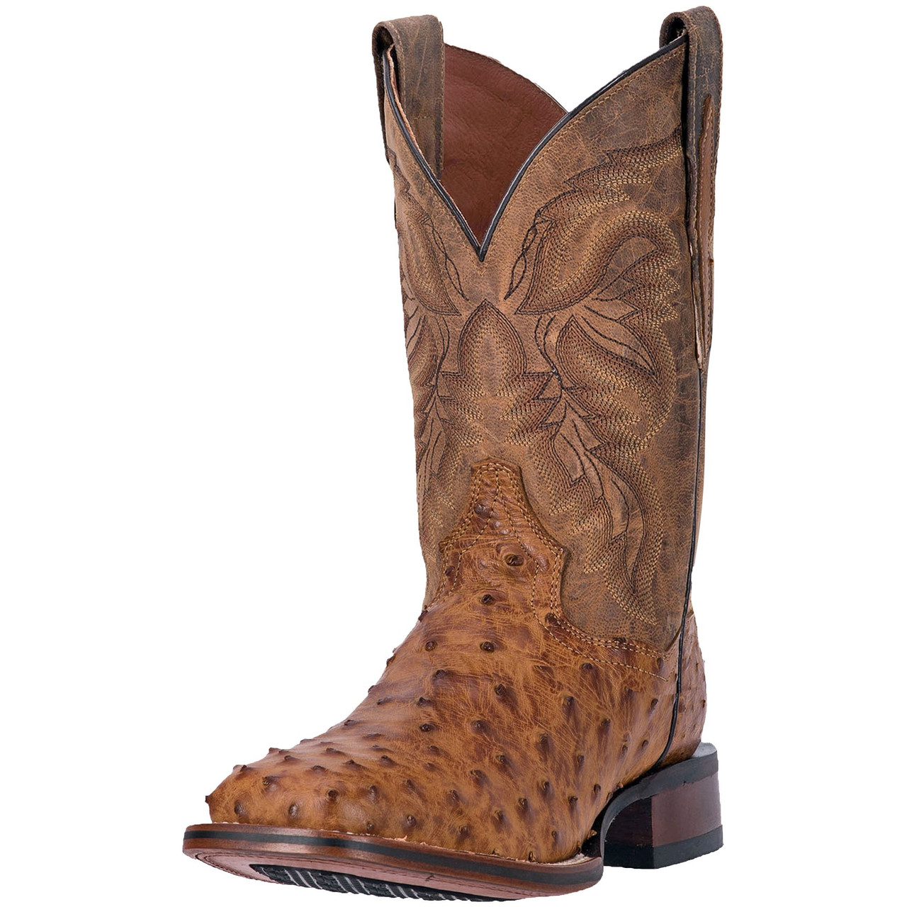04819ec7342 Men's Dan Post Alamosa Saddle Tan Mad Dog Full Quill Ostrich #DP3876 ...