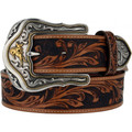 "TONY LAMA WESTERN TOOLED BELTS Tan Westerly Ride 1 1/2"" #C41514"
