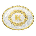Montana Silversmiths Gold Filigree Initial Western Belt Buckle #5000K