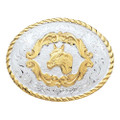 Montana Silversmiths Small Horse Head Western Belt Buckle #5000HH
