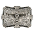 Montana Silversmiths Antiqued Trailblazer Buckle with Longhorn #22718RTS-767
