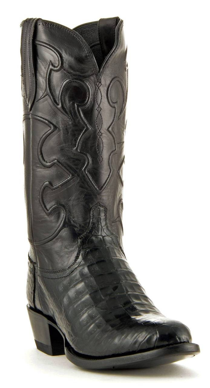 657f6a2b1a9 MEN'S LUCCHESE CHARLES BLACK CAIMAN BELLY #M1636.R4 - WJ Colt Boots