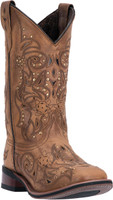 "Women's Laredo COWBOY APPROVED 11"" JANIE Tan Leather #5643"