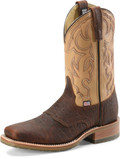 "Men's Double H GRAHAM 11"" Domestic Bison Wide Square Toe Roper Oak I.C.E.™ Outsole #DH4305"