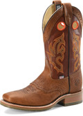 "Men's Double H MICKEY 12"" Domestic Wide Square Toe Roper Oak I.C.E.™ Outsole #DH4400"