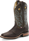 "Men's Double H DANIEL 12"" Domestic Wide Square Toe Roper Black I.C.E.™ Outsole #DH3575"