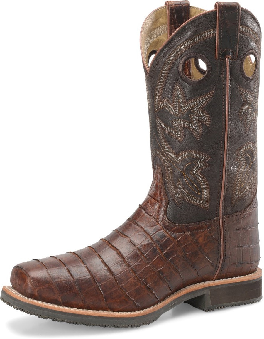 """b7abfe5130f Men's Double H WAYNE 12"""" Wide Square Steel Safety Toe Roper #DH5225 ..."""