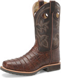 "Men's Double H WAYNE 12"" Wide Square Steel Safety Toe Roper #DH5225"