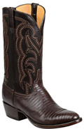MEN'S LUCCHESE KIP CIGAR LIZARD/DARK BROWN #GY1035