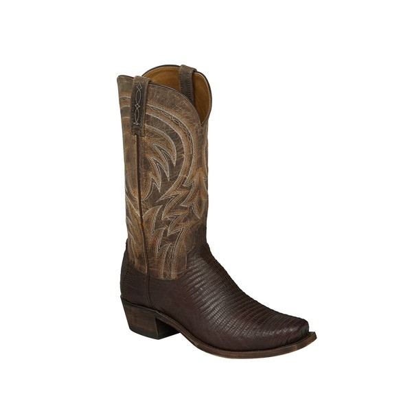 9a80168ff14 MEN'S LUCCHESE PERCY ANTIQUE TAN LIZARD #M2904 - WJ Colt Boots
