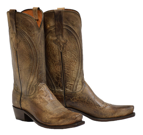 b830896f9e5 MEN'S LUCCHESE CLINT ANTIQUE PEARL BONE MAD DOG GOAT #N1656 - WJ ...
