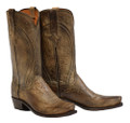 MEN'S LUCCHESE CLINT ANTIQUE PEARL BONE MAD DOG GOAT #N1656