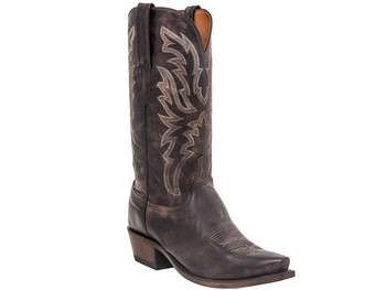 7e032e299a1 MEN'S LUCCHESE MILO ANTIQUE DARK BROWN GOAT #N1663 - WJ Colt Boots