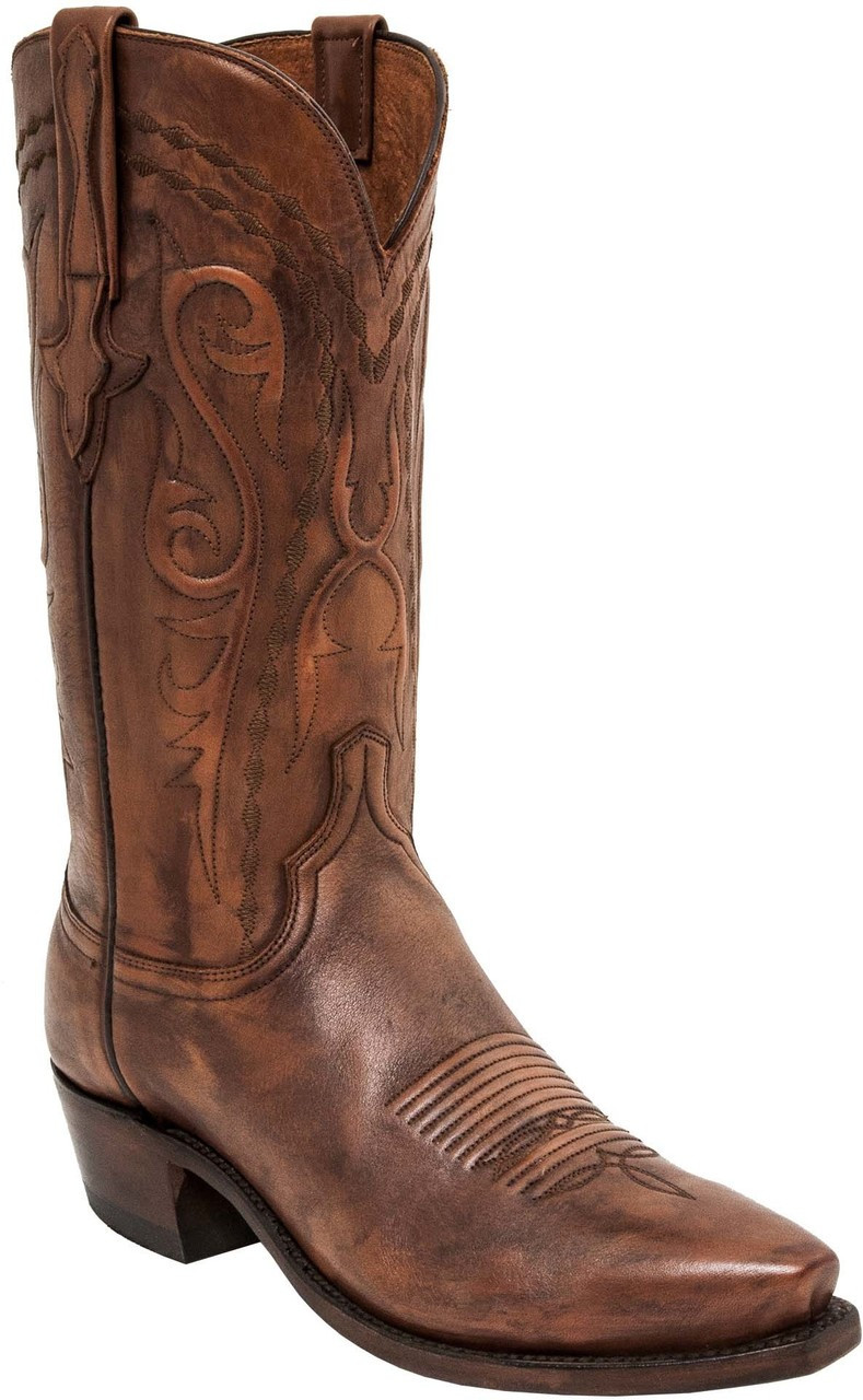 9b6b313263b MEN'S LUCCHESE BRANDON ANTIQUE WHISKEY COWHIDE #N1665 - WJ Colt Boots