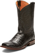Men's Tony Lama CANYON BLACK 1911 COLLECTION BLACK BURNISHED CAIMAN BELLY #TL5252